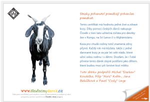 Certifikát zakoupení pohanské veselé kozy